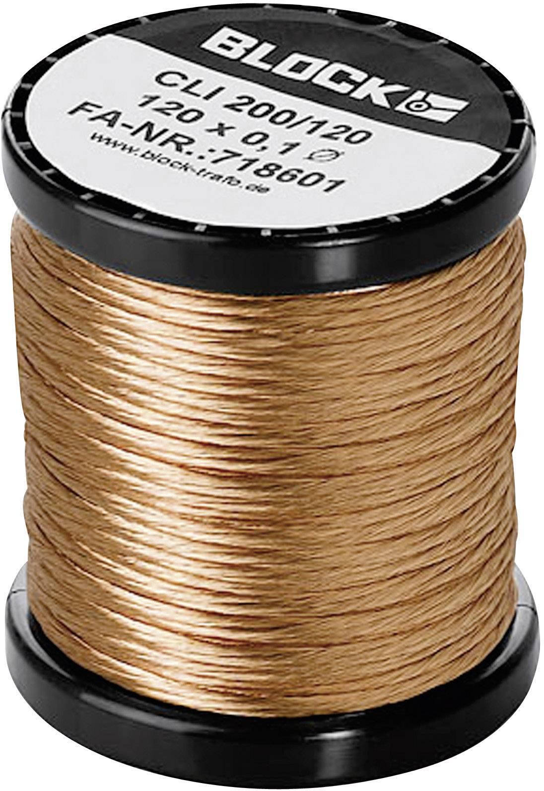 Medený drôt smaltovaný lakom Block CLI 200/90, vonkajší Ø 0.10 mm, 1 balení