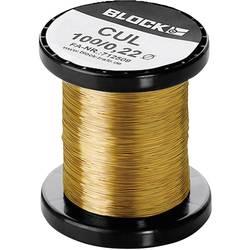 Měděný drát smaltovaný lakem Block CUL 200/0,10, Vnější Ø (vč. izolace) 0.10 mm, 2702 m