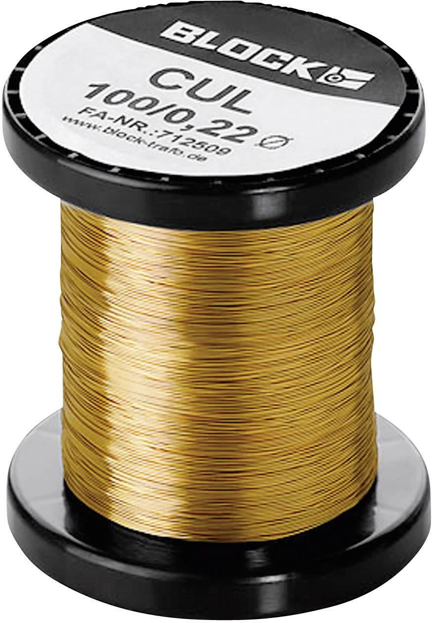 Medený drôt smaltovaný lakom Block CUL 100/0,10, vonkajší Ø 0.10 mm, 1 balení