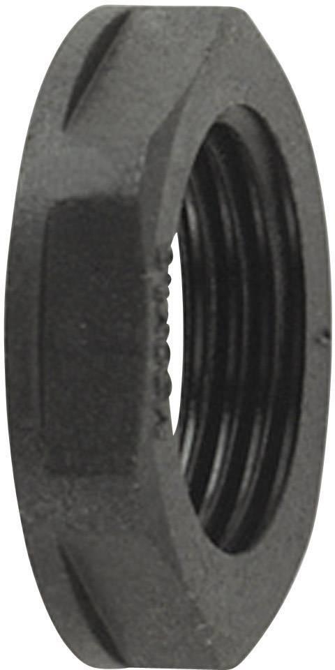 Pojistná matka HellermannTyton ALPA-M16 166-50134, černá, 1 ks