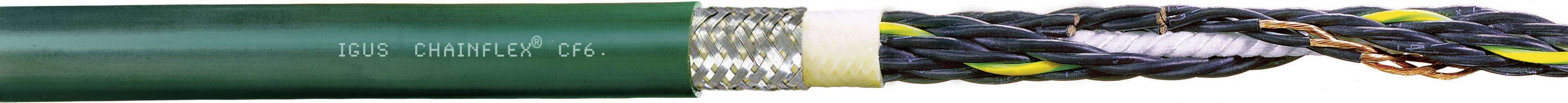 Řídicí kabelové vedení igus Chainflex® CF CF6.10.05, 5x 1 mm², Ø 9,5 mm, stíněný, 1 m