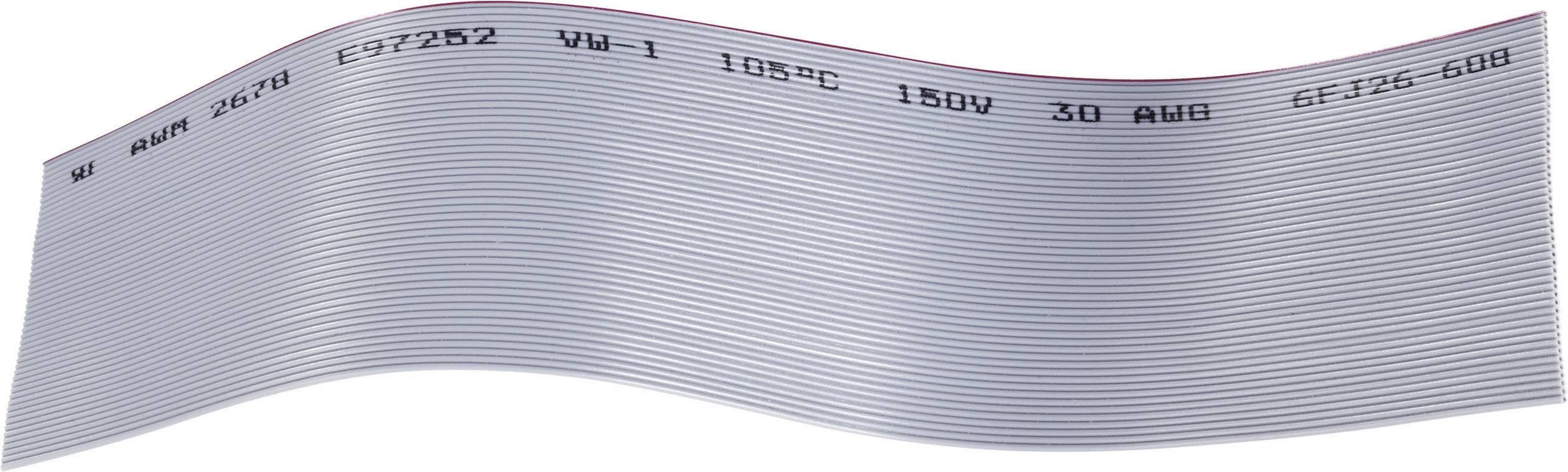 Plochý kábel BKL Electronic 1505050, rozteč 0.635 mm, 10 x 0.05 mm², sivá, metrový tovar