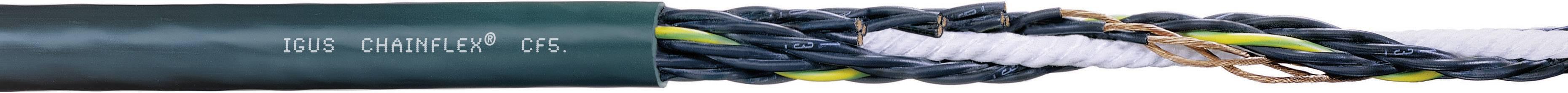 Řídicí kabelové vedení igus Chainflex® CF CF5.10.03, 3x 1 mm², Ø 6,5 mm, nestíněný, 1 m