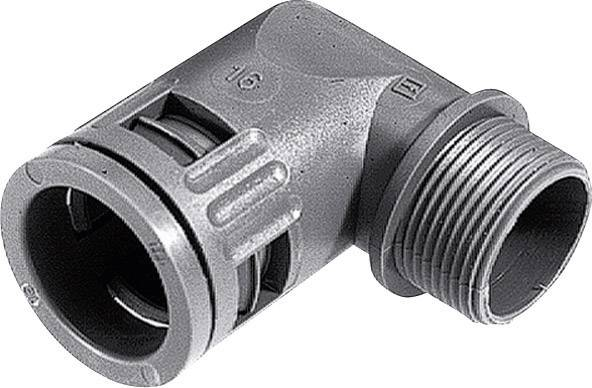 Hadicová spojka 90° LappKabel SILVYN® KLICK 90° IP66 16x1,5/1 GY 55502835, M16, 10 mm, čierna, 1 ks
