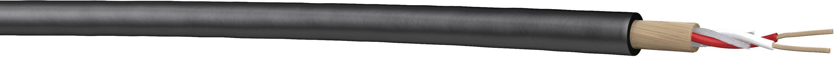 Mikrofónový kábel DRAKA 1002099, 1 x 2 x 0.22 mm², čierna, metrový tovar