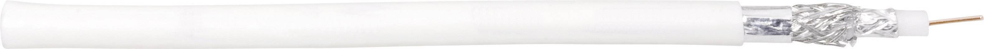 Koaxiální kabel 70I044, 75 Ohm, bílá, 25 m