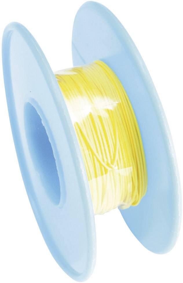 Navíjací drôt Conrad Components 606371 Wire Wrap, 1 x 0.08 mm², vonkajší Ø 0.53 mm, 15 m, žltá