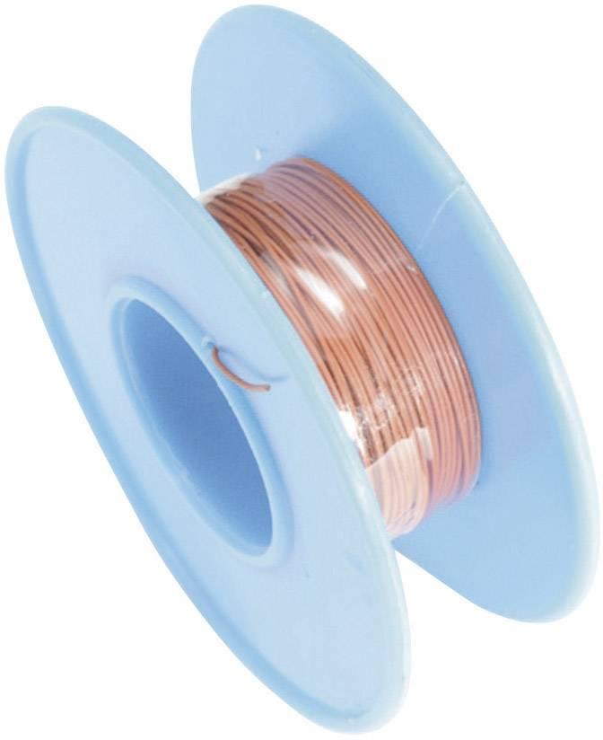 Navíjací drôt Conrad Components 606411 Wire Wrap, 1 x 0.08 mm², vonkajší Ø 0.53 mm, 15 m, červená