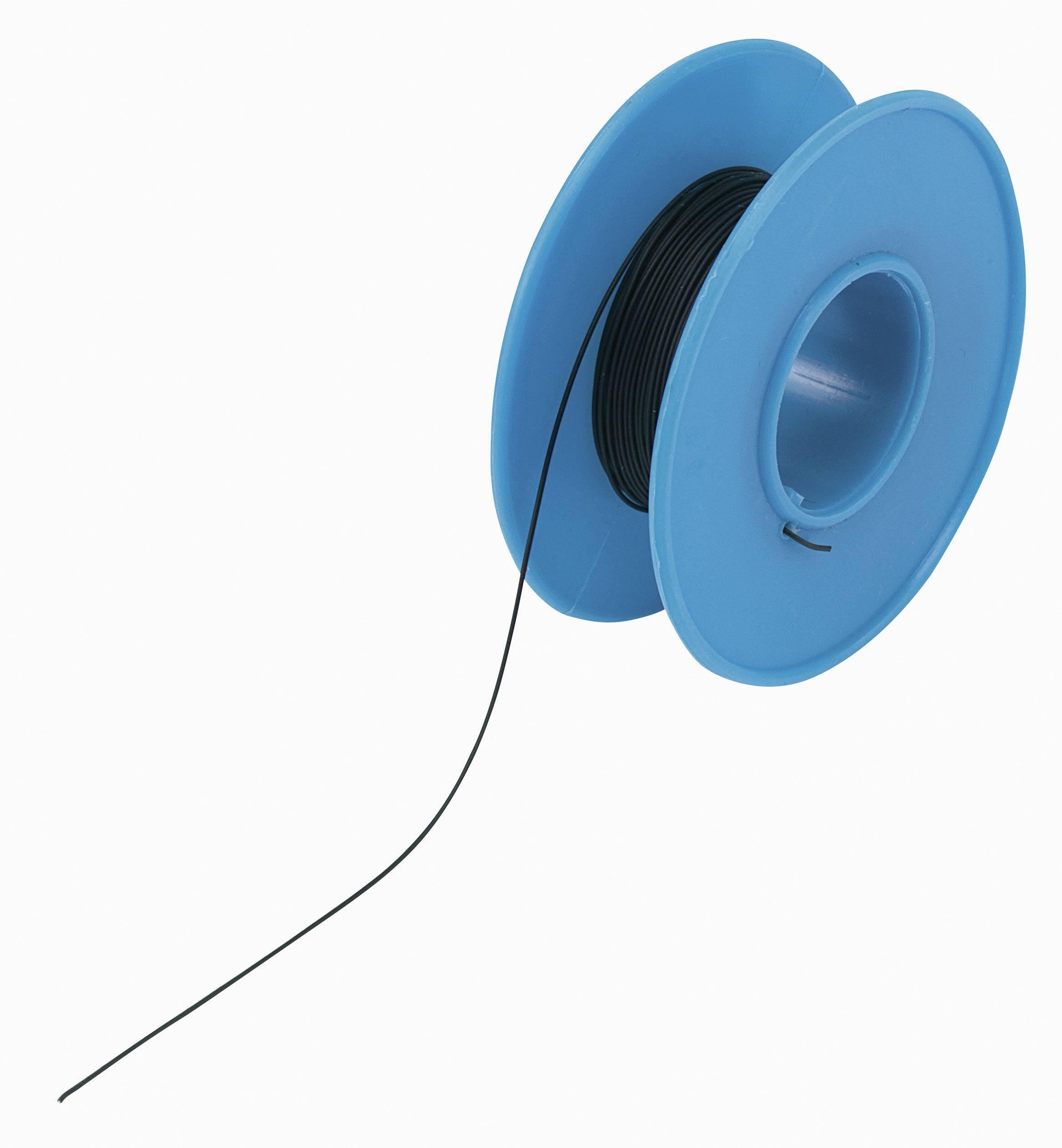Navíjací drôt Conrad Components 606075 Wire Wrap, 1 x 0.20 mm², vonkajší Ø 0.75 mm, 15 m, čierna