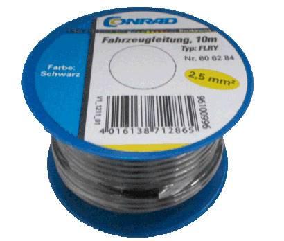Kabel pro automotive AIV FLRY, 1 x 2.5 mm², černý, 10 m