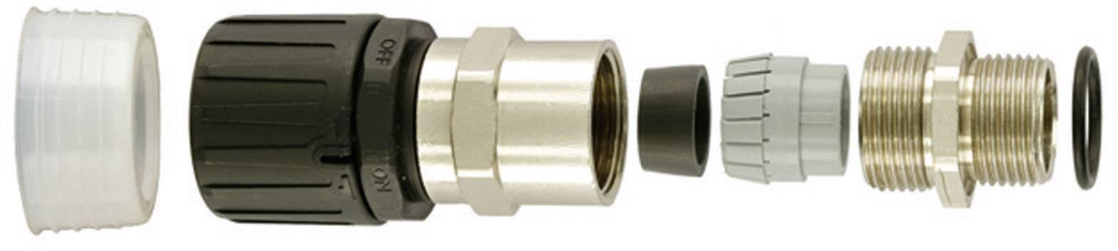 Šroubovací propojka rovná HellermannTyton HGL13-SCG-M16 (166-22100), černá