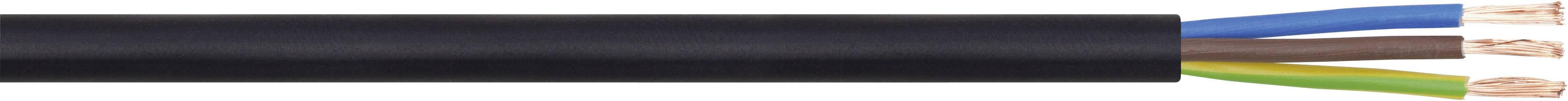 Vícežílový kabel LappKabel H05VV-F, 49900075, 3 x 1 mm², černá, metrové zboží