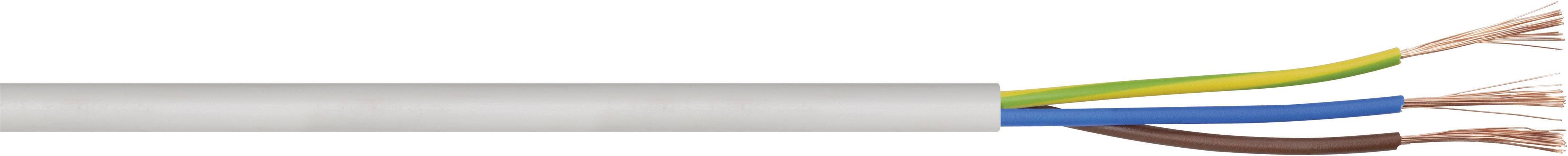 Vícežílový kabel LAPP H03VV-F, 49900065/500, 2 x 0.75 mm², bílá, 500 m