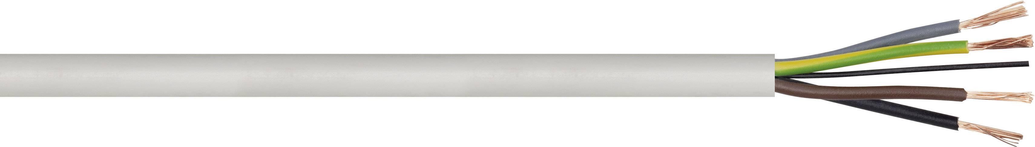 El. kábel hadicový H03VV-F LappKabel 1601211, 4 G 0.75 mm², čierna, metrový tovar