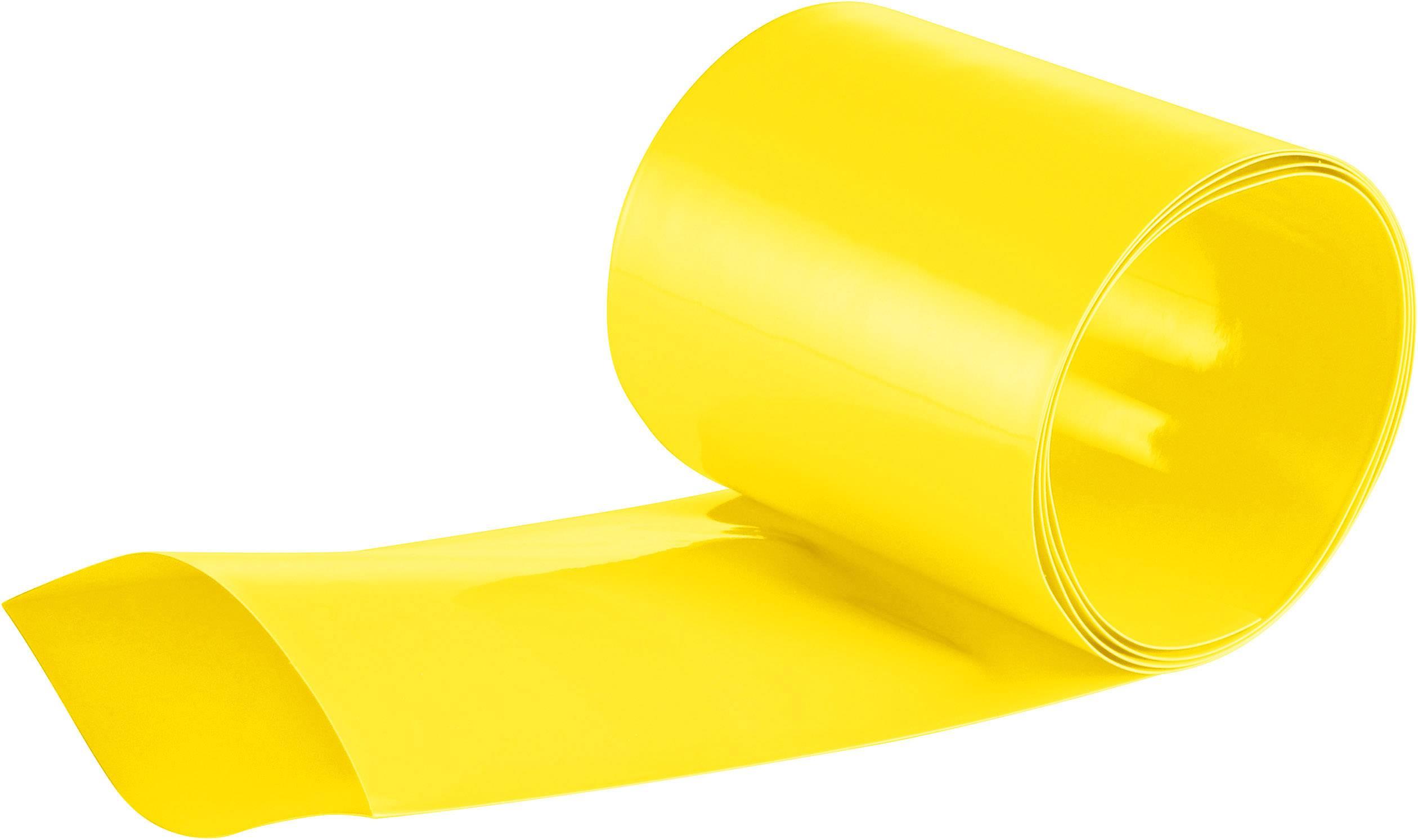 Zmršťovacia bužírka na akumulátory, bez lepidla DSG Canusa 1612508100, 2:1, 80 mm, žltá, metrový tovar