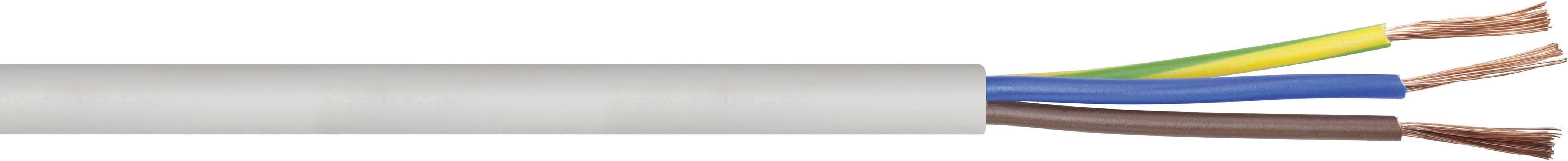 Vícežílový kabel LAPP H05VV-F, 49900076, 3 G 1 mm², bílá, metrové zboží