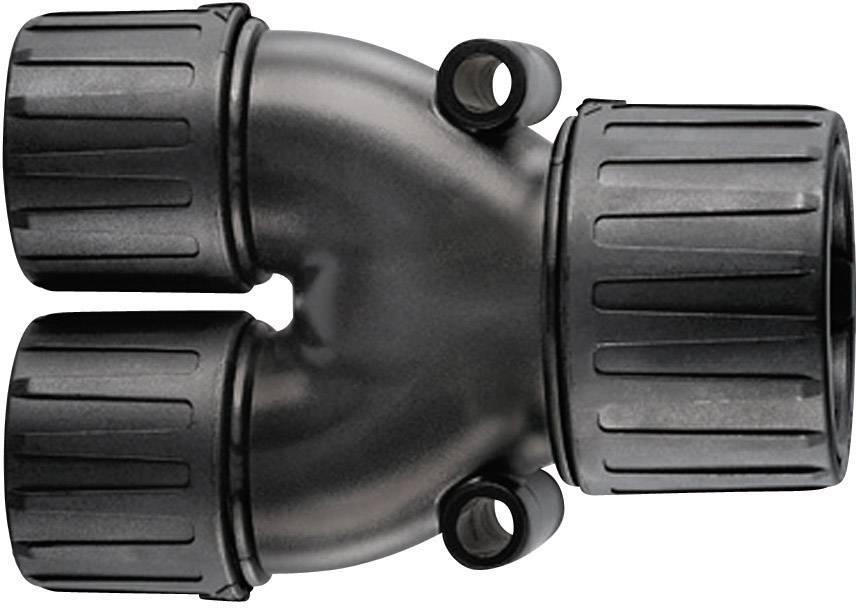 Rozdělovač ve tvaru Y HellermannTyton HG21-Y16 166-25802, 21 mm, 16 mm, 16 mm, černá, 1 ks