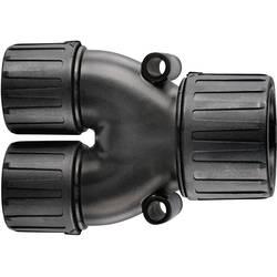 Rozdělovač ve tvaru Y HellermannTyton HG28-Y21 166-25803, 28 mm, 21 mm, 21 mm, černá, 1 ks