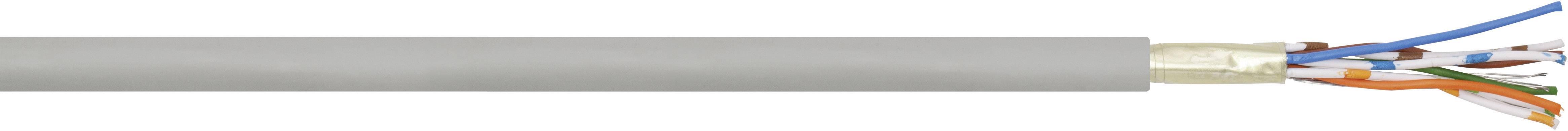 Sieťový kábel ethernetový CAT 5e LappKabel UNITRONIC® LAN CAT.5E 100MHZF/UTP LSZH, F/UTP, 4 x 2 x 0.13 mm², sivá, metrový tovar