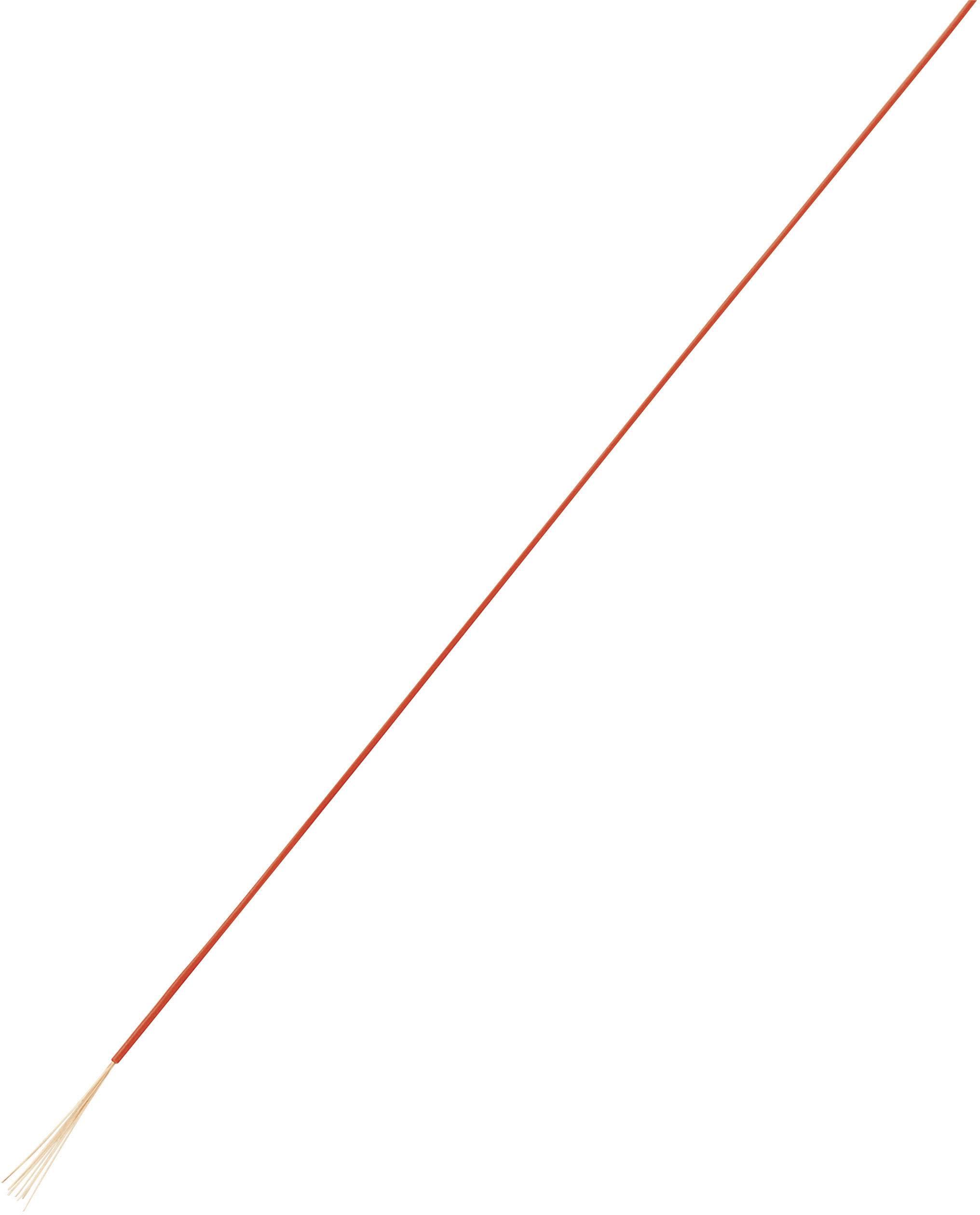 Opletenie / lanko Conrad Components 1180251 LiFY, 1 x 0.05 mm², vonkajší Ø 0.80 mm, 10 m, červená