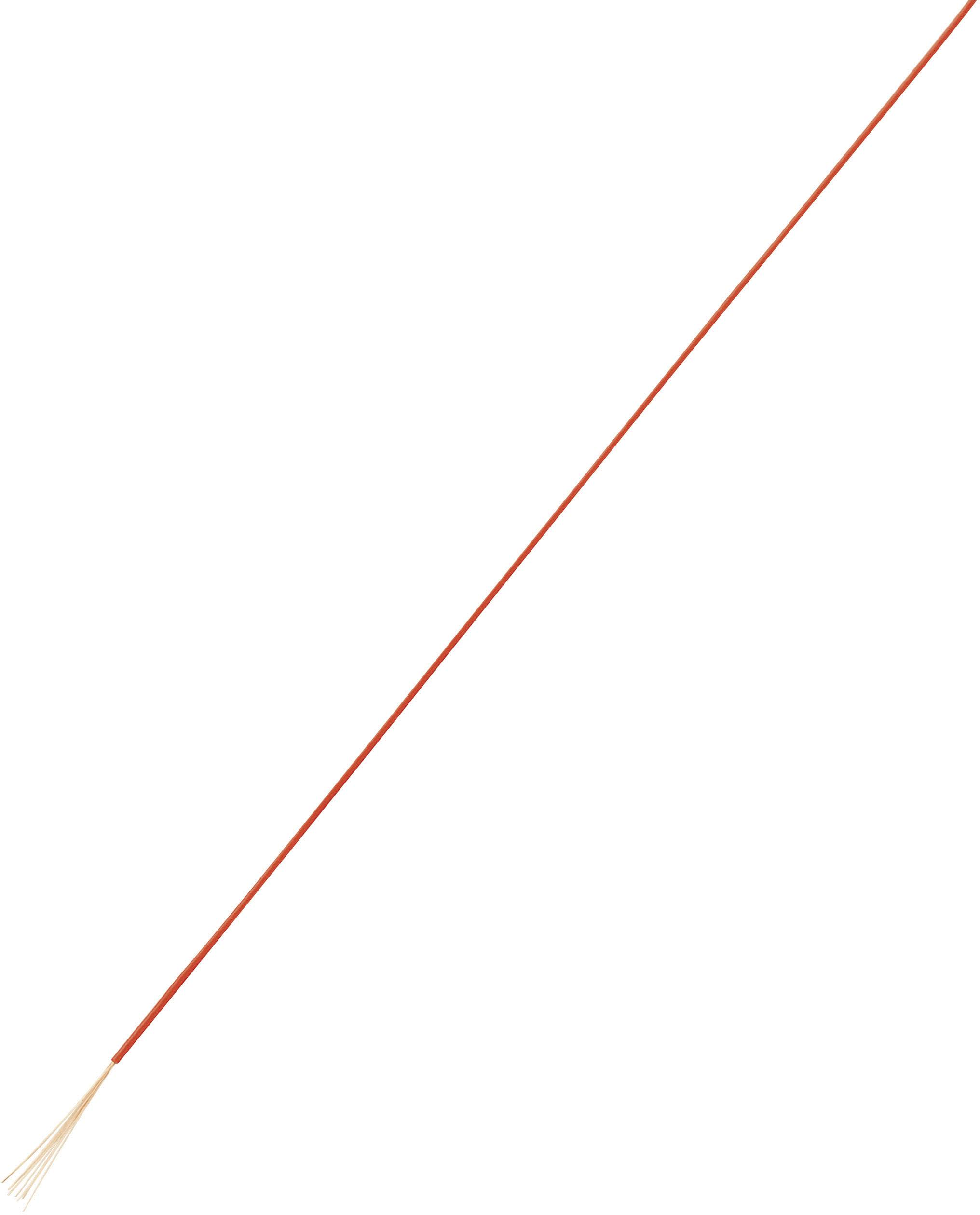 Opletenie / lanko Conrad Components 1180284 LiFY, 1 x 0.05 mm², vonkajší Ø 0.80 mm, 100 m, červená