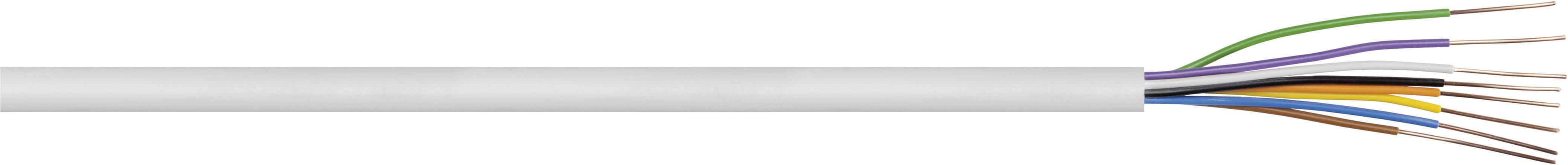 Zvonkový kabel, 4 x 0,8 mm, bílá, 1 m