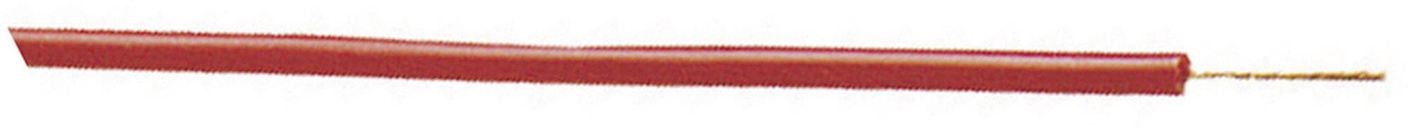 Opletenie / lanko Stäubli 61.7551-10027 SILI-E, 1 x 0.25 mm², vonkajší Ø 1.70 mm, metrový tovar, hnedá