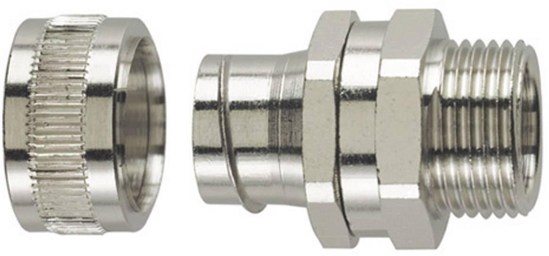 Hadicová spojka rovná HellermannTyton SC12-SM-PG9 166-30411, PG16, 10.20 mm, kov, 1 ks