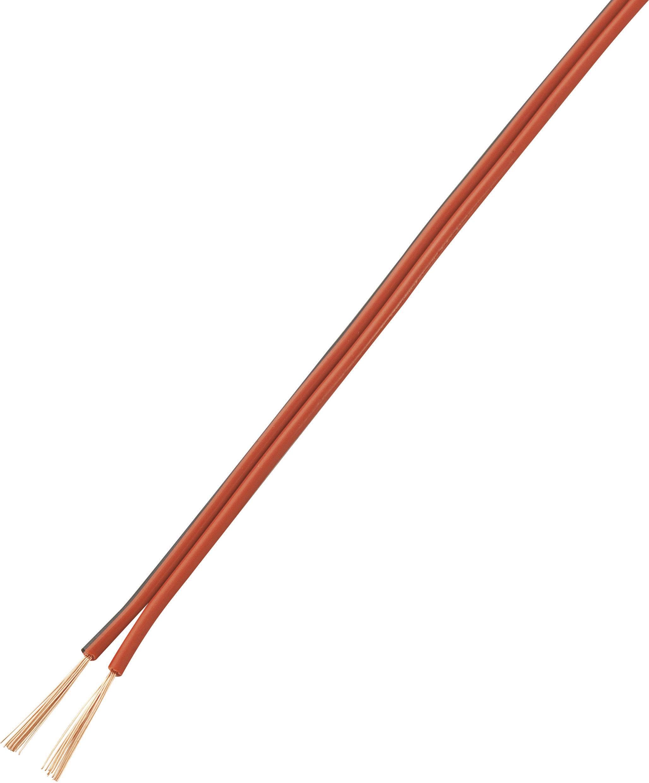 Opletenie / lanko LiY-Z Conrad Components LiFY/CCA, 2 x 0.14 mm², červená, červenočierna, 20 m
