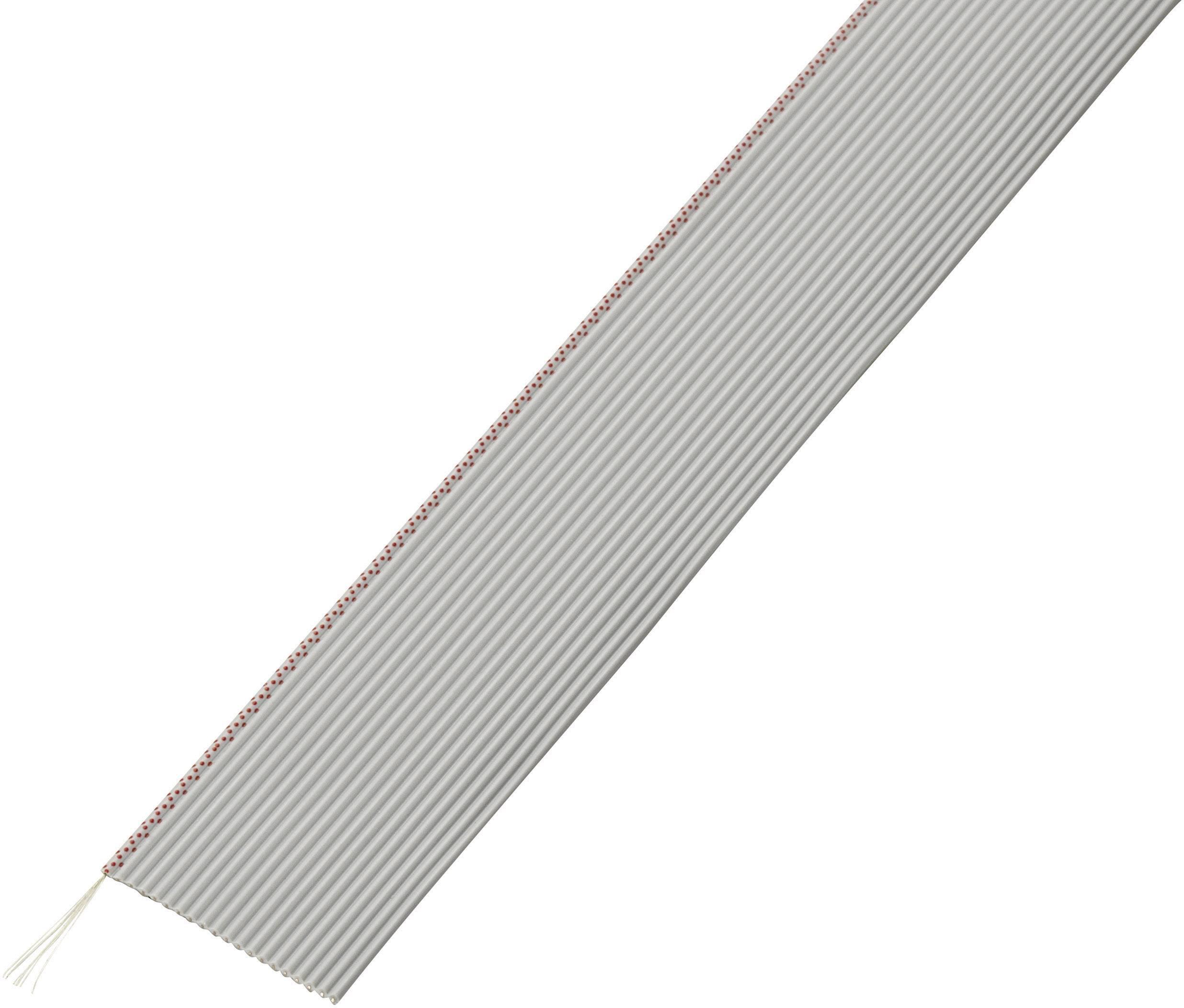 Plochý kábel Conrad Components 607692, rozteč 1.27 mm, 20 x 0.035 mm², sivá, 30.5 m