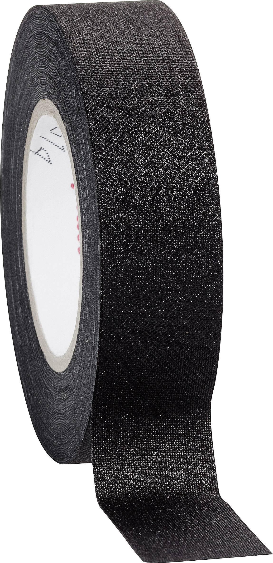 Páska so skleným vláknom Coroplast 16781 16781, (d x š) 10 m x 19 mm, čierna, 1 roliek