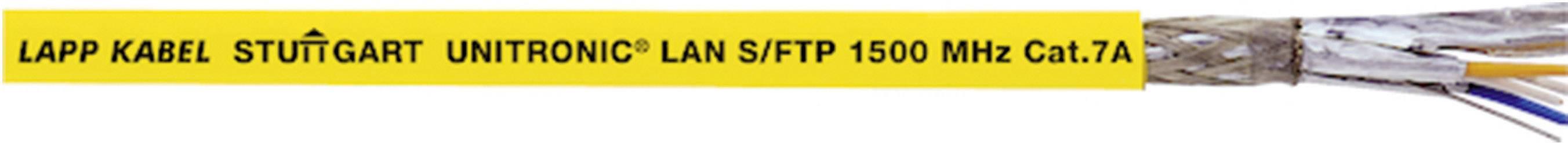 Sieťový kábel ethernetový CAT 7a LappKabel UNITRONIC® LAN 1500 S/FTP CAT.7a LSZH, S/FTP, 4 x 2 x 0.33 mm², žltá, metrový tovar