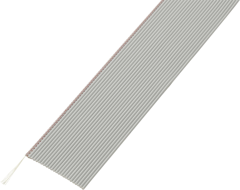 Plochý kábel Conrad Components SH1998C202, rozteč 1.27 mm, 24 x 0.035 mm², sivá, 30.5 m