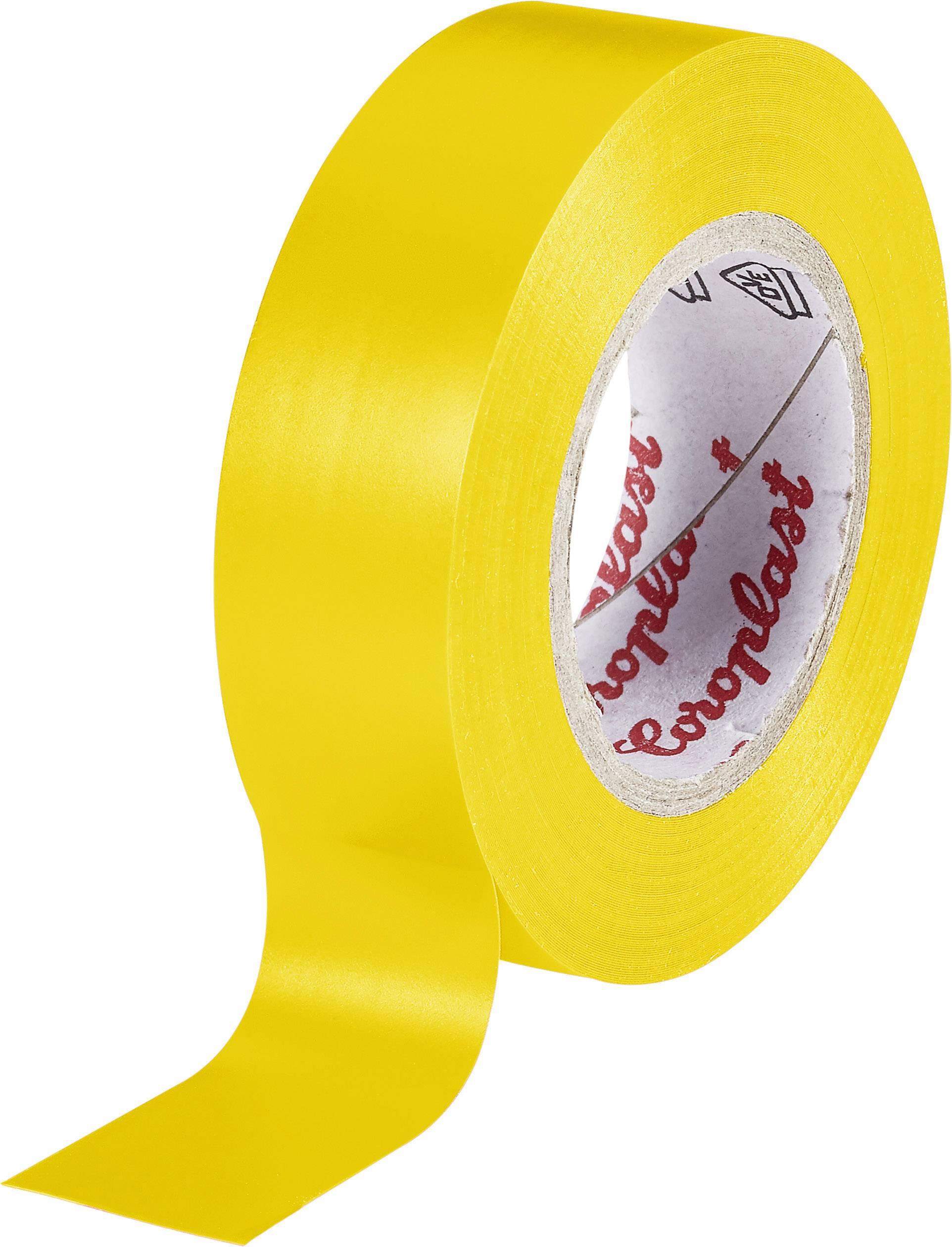 Izolační páska Coroplast, 302, 15 mm x 10 m, žlutá