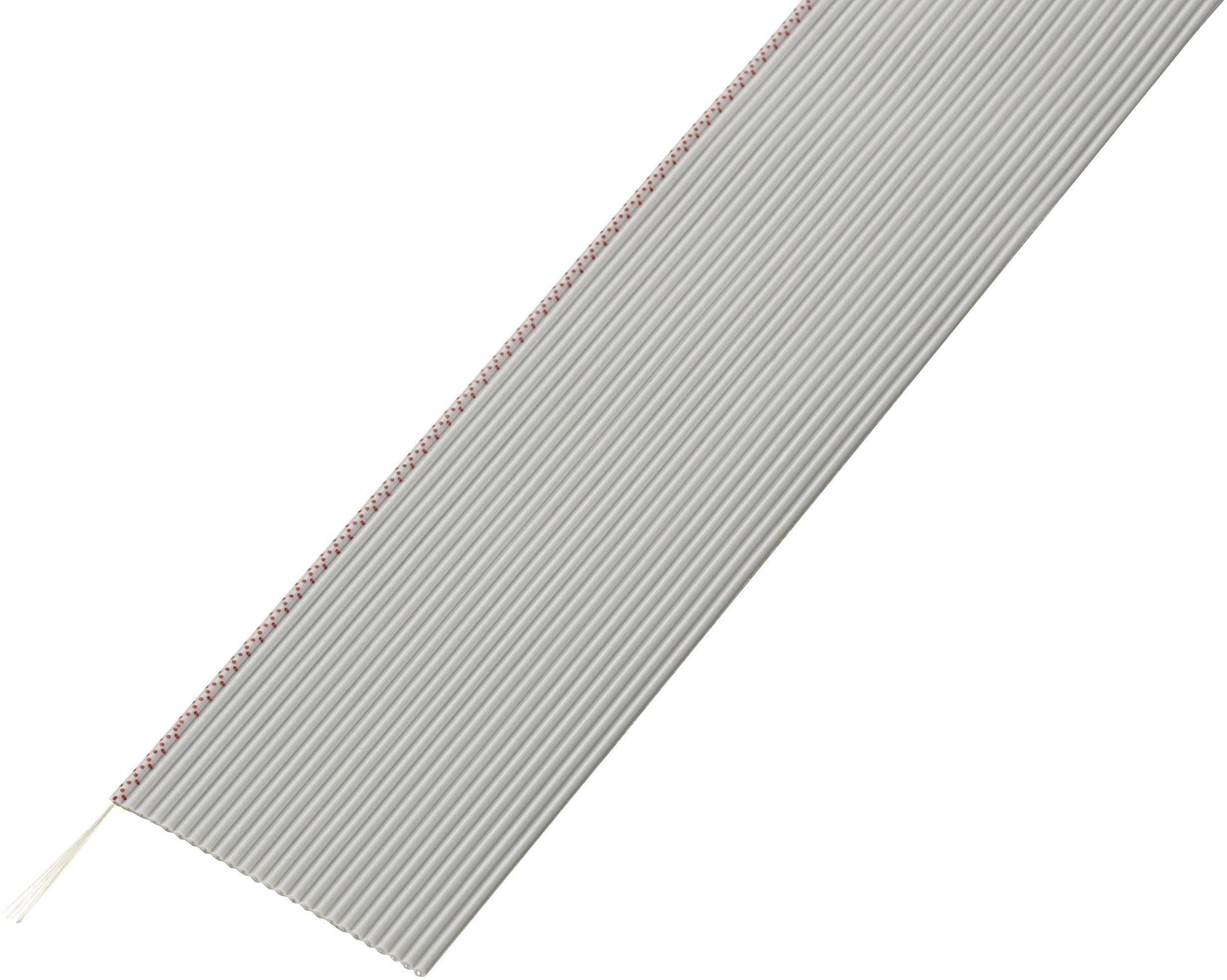 Plochý kábel Conrad Components SH1998C203, rozteč 1.27 mm, 25 x 0.035 mm², sivá, 30.5 m