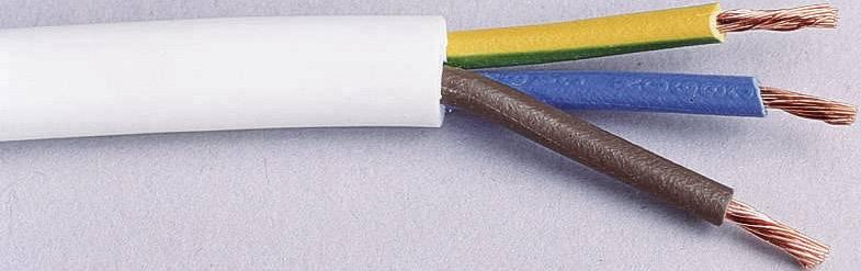 Vícežílový kabel LAPP H05VV-F, 49900076, 3 G 1 mm², bílá, 20 m