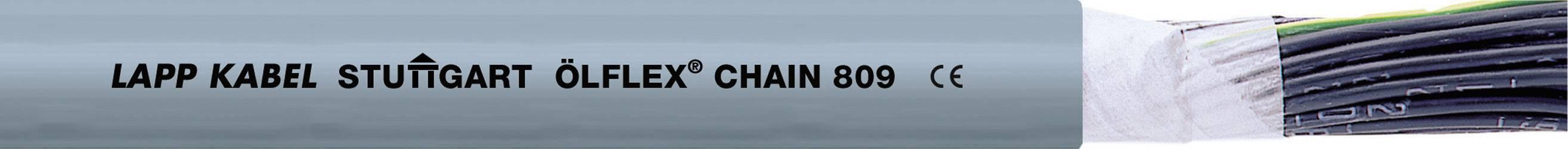Žíla kabelu LappKabel ÖLFLEX CHAIN 809 2X1,5 (1026724), 2x 1,5 mm², PVC, Ø 6,5 mm, 100 m, šedá