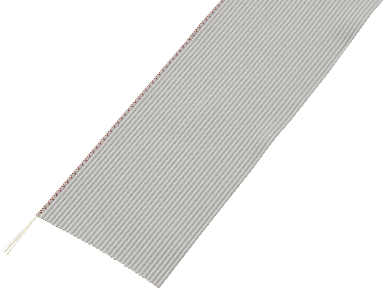 Plochý kábel Conrad Components 608474, rozteč 1.27 mm, 26 x 0.035 mm², sivá, 30.5 m