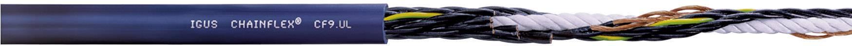 Řídicí kabelové vedení igus Chainflex® (CF9.03.04.INI), 4x 0,34 mm², elastomer, Ø 11 mm, nestíněný, 1 m, modrá