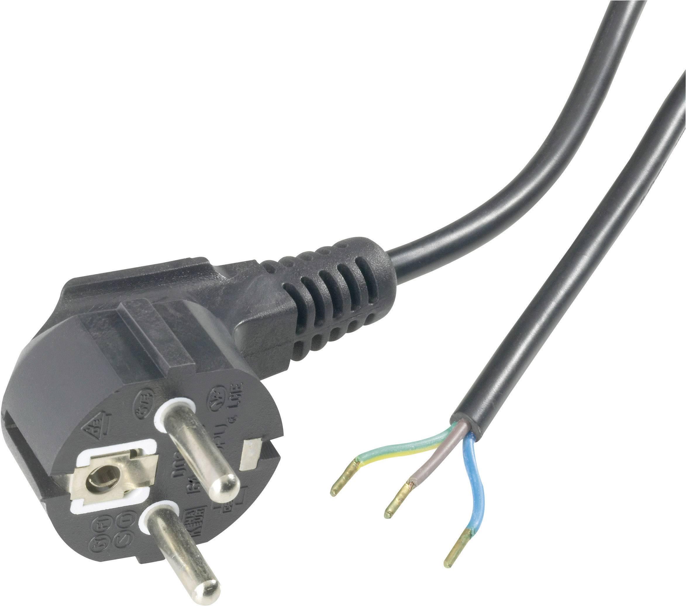 Flexokabel černý H03VV-F 3 x 0 ,75 úhlový