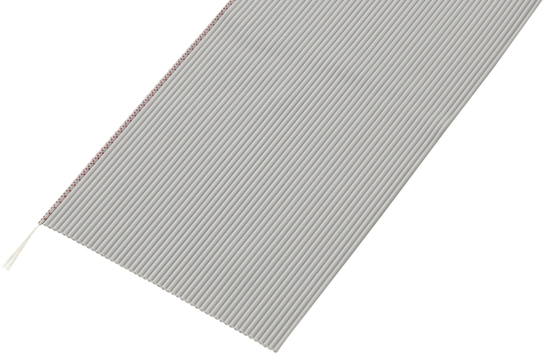 Plochý kábel Conrad Components SH1998C207, rozteč 1.27 mm, 50 x 0.035 mm², sivá, 30.5 m