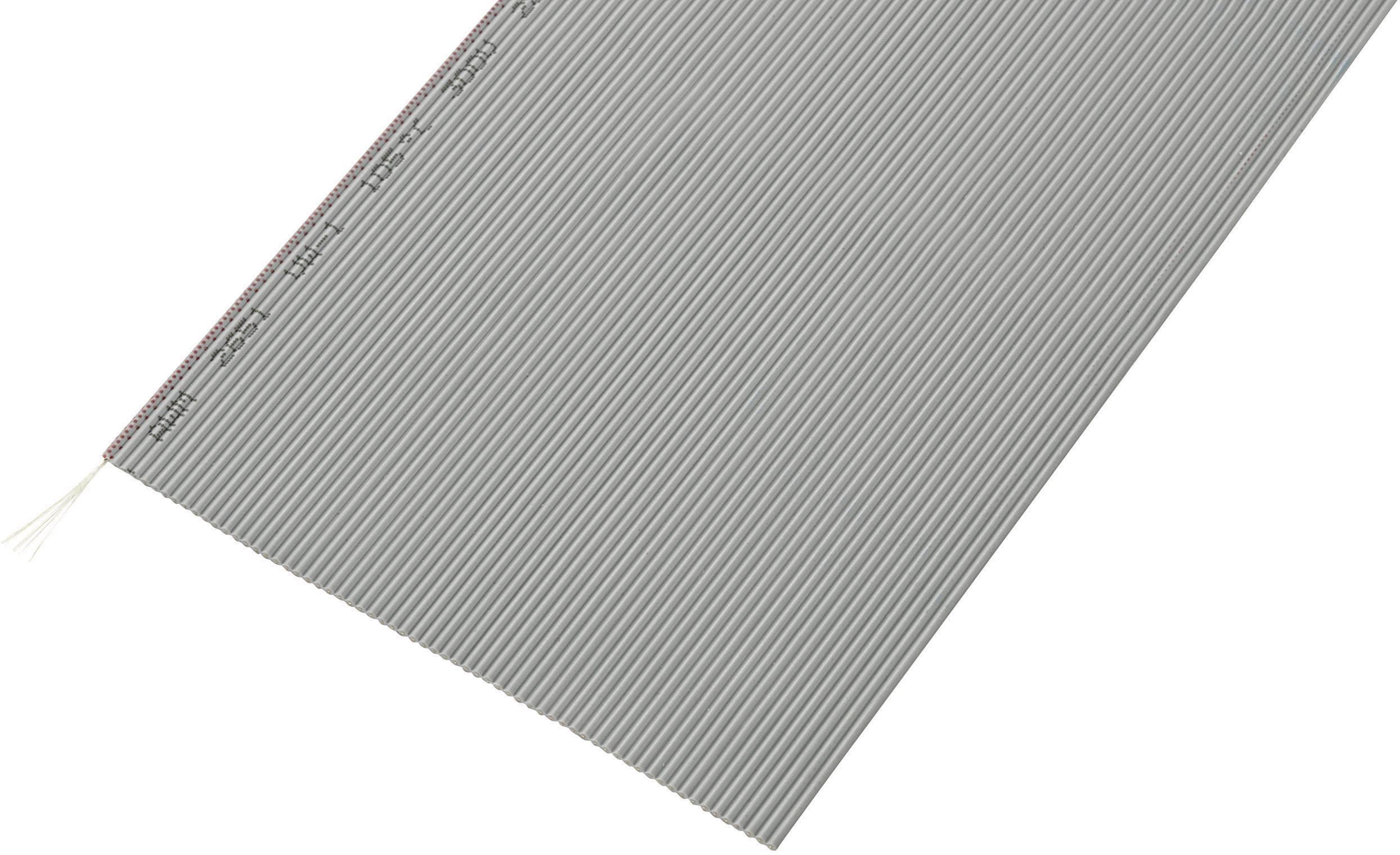 Plochý kábel Conrad Components SH1998C208, rozteč 1.27 mm, 64 x 0.035 mm², sivá, 30.5 m