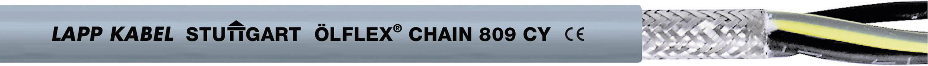 Žíla kabelu LappKabel ÖLFLEX CHAIN 809 CY 3G1,5 (1026776), 3x 1,5 mm², PVC, Ø 7,5 mm, stíněný, 100 m, šedá