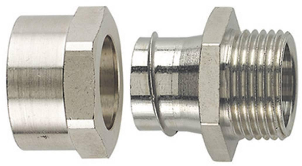 Hadicová spojka rovná HellermannTyton SCSB12-FM-M16 166-34600, M16, 10.20 mm, kov, 1 ks