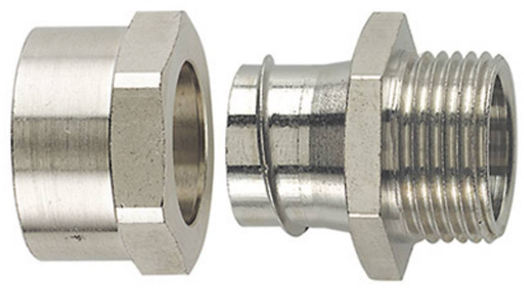 Hadicová spojka rovná HellermannTyton SCSB12-FM-PG9 166-34607, PG9, 10.20 mm, kov, 1 ks