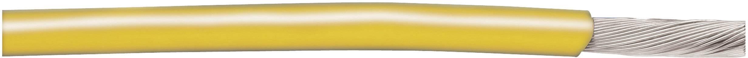 Opletenie / lanko AlphaWire 3075 GY001 1 x 0.82 mm², vonkajší Ø 2.81 mm, metrový tovar, zelenožltá