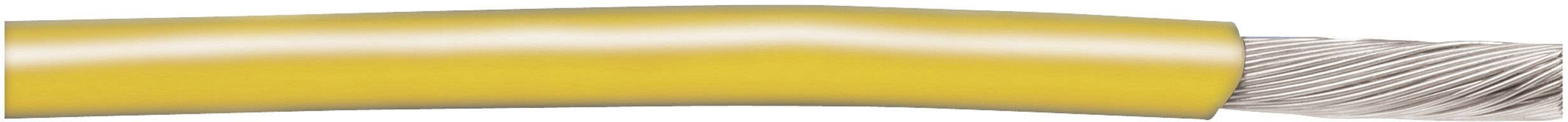 Opletenie / lanko AlphaWire 3075 YL001 1 x 0.82 mm², vonkajší Ø 2.82 mm, metrový tovar, žltá