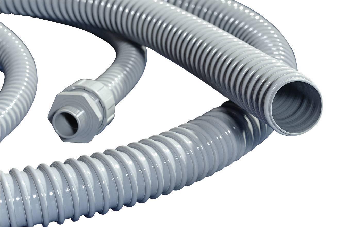 Ochranná hadica na káble HellermannTyton PSR40 166-40006, 35 mm, sivá, metrový tovar