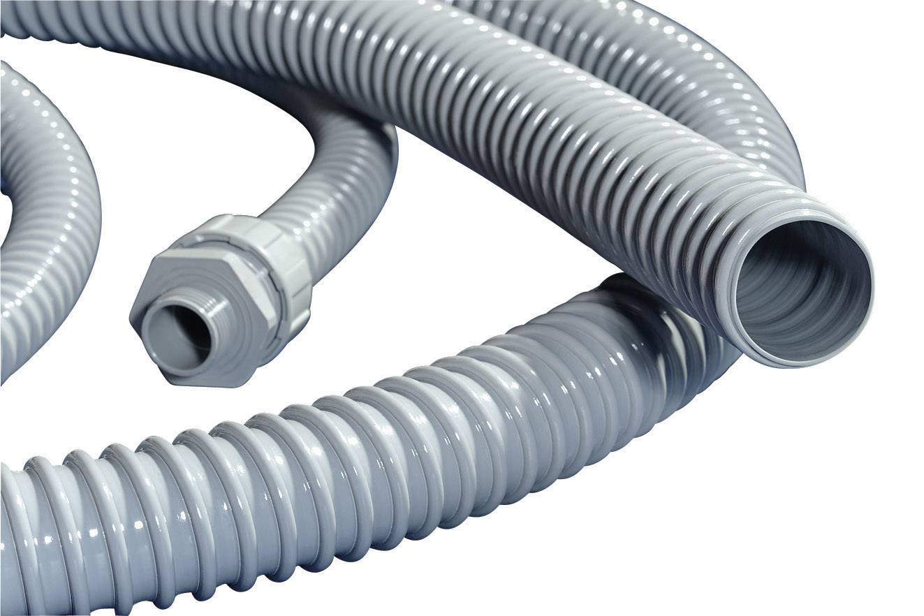 PVC plášť HellermannTyton PSR16 (166-40002), šedá