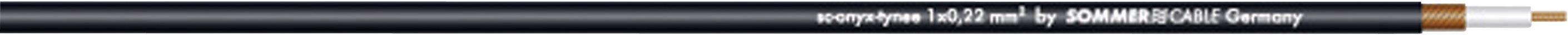 Nástrojový kábel Sommer Cable 300-0031, 1 x 0.22 mm², čierna, metrový tovar